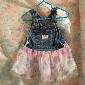 Oshkosh Overalls Dress Floral Skirt 18 Months